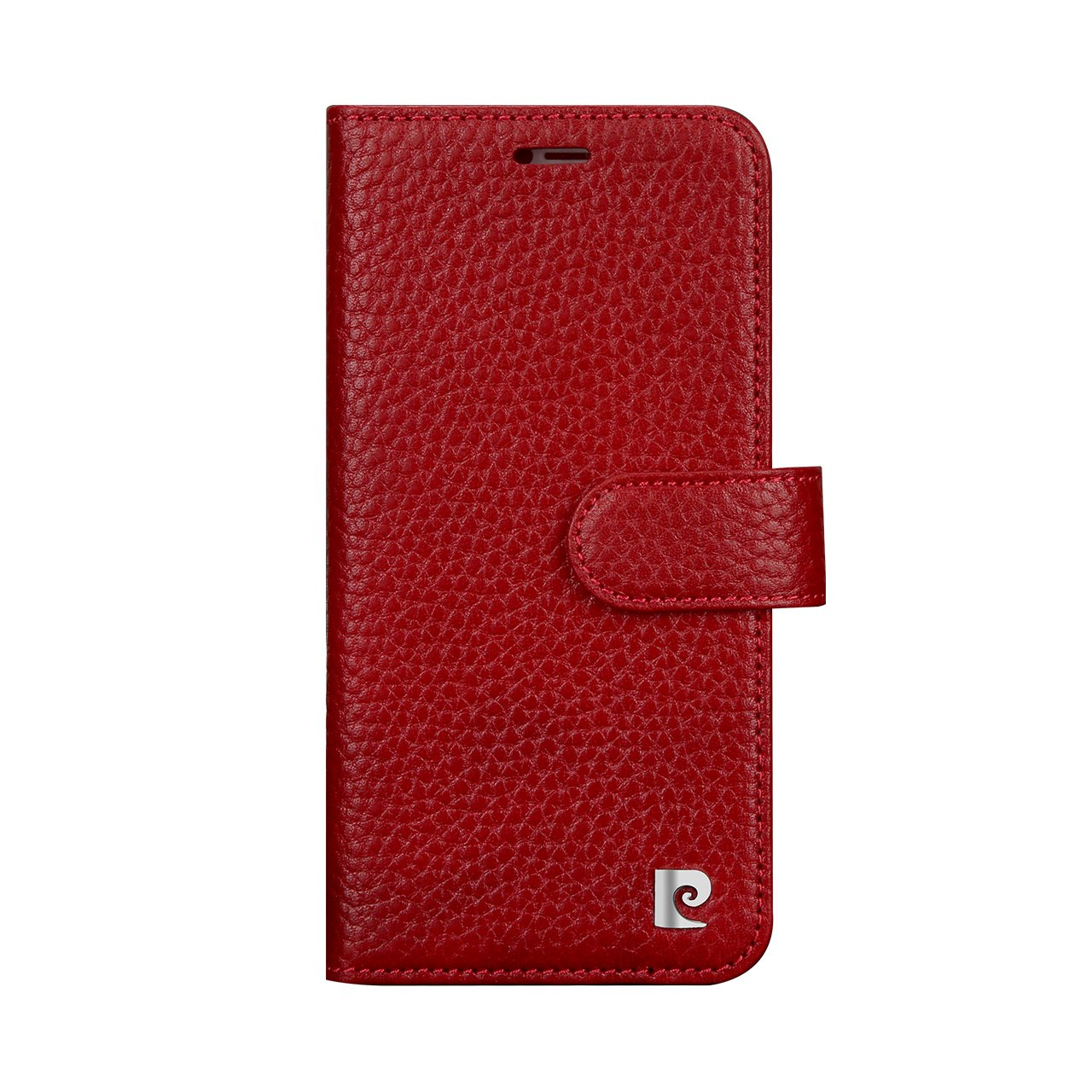 Pierre Cardin Wallet Case Premium Genuine Leather Folio Cover with Credit Card Flip Money Cash Kickstand Detachable Design Slots for Apple iPhone X (Red) by Pierre Cardin (Image #2)