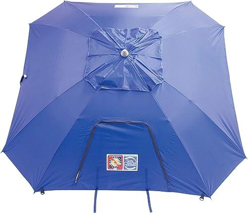 Rio Brands Beach 9' Outdoor Total Sun Block Extreme Shade Umbrella and Sun Shelter