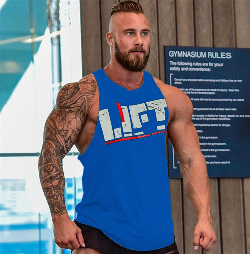Befox Herren Fitness Muskel Gym saugf/ähige Weste Bodybuilding Lift Stringer Tank Top,M-XXL