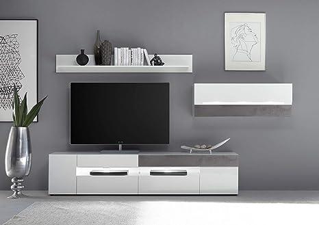 Newfurn - Mueble de Pared para salón, Moderno, Armario para ...