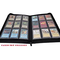 docsmagic.de Premium Pro-Player Zip-Album Black - 360 Card Binder - Magic: The Gathering - Pokemon - Yu-Gi-Oh! - Classeur pour jeu de cartes Noir