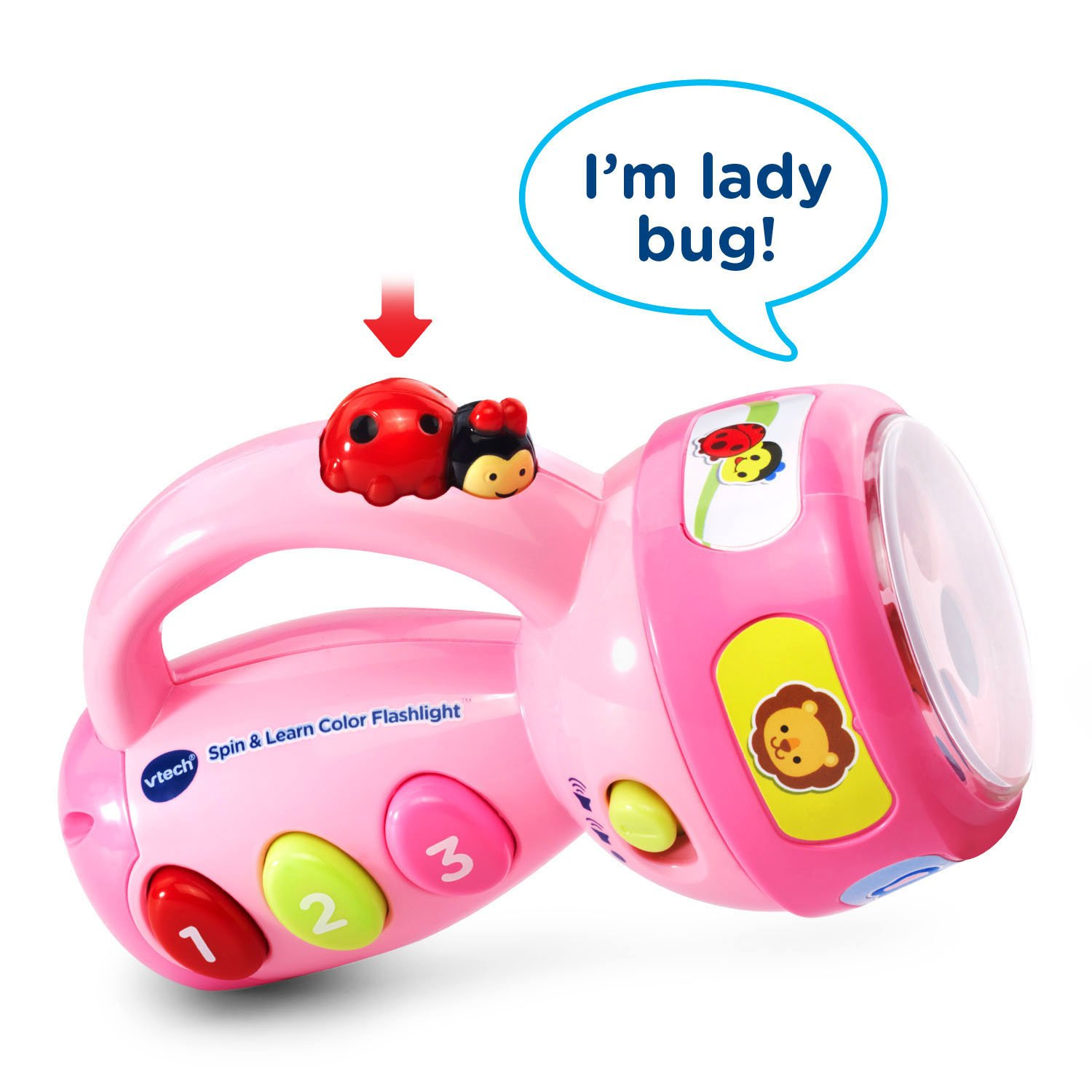 VTech Spin and Learn Color Flashlight Amazon Exclusive, Pink by VTech (Image #3)