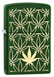Zippo green Matte Leaf Pattern with Pipe Insert