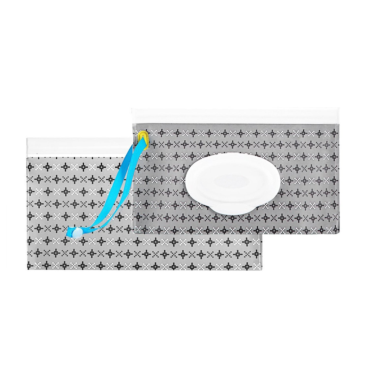 Reusable Wet Wipe Pouch Dispenser for Baby or Personal Wipes, Eco Friendly Wipe Pouches, Great for Travel (2 pack) (AA)