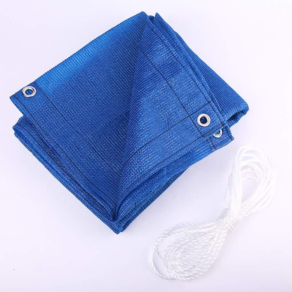 YUDEYU Balcone Vita Privata Rete Protettiva Blu Ombreggiamento 90% Protezione Solare Isolamento Anti-UV Parabrezza (Color : 1.1x4m) 1.1x5m