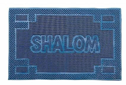 Amazon Com Judaica Shalom Door Mats Welcome Mats Rubber Mats Jewish