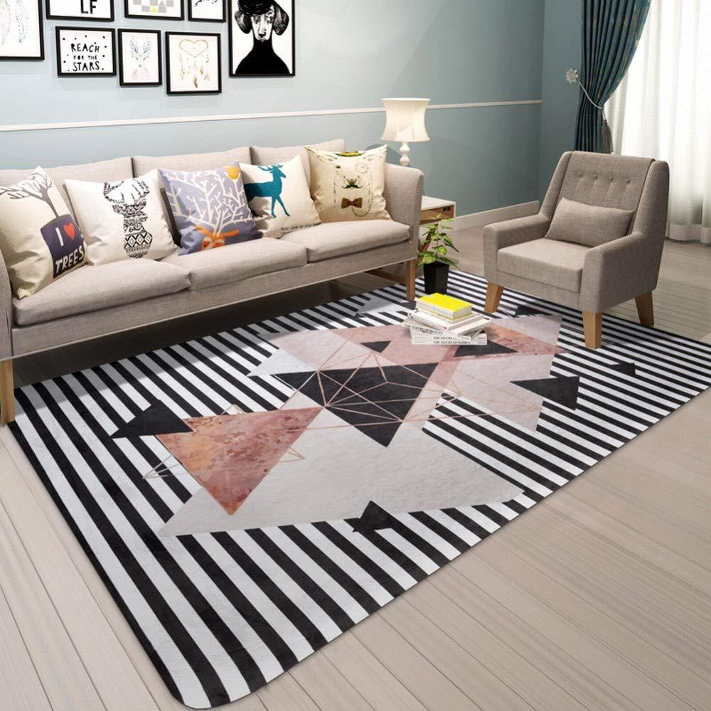 Sous Tapis DEED Nordic Carpet Salon Moderne Simple Table Basse Mat Canapé  Chambre Chambre Plein Chevet Tapis Rectangulaire