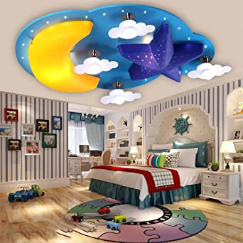 Ceiling Lights & Fans Collection Here Creative Childrens Room Lamp Bedroom Lamp Cartoon Airplane Baby Boy Kindergarten Room Ceiling Lighting Eye Latest Technology
