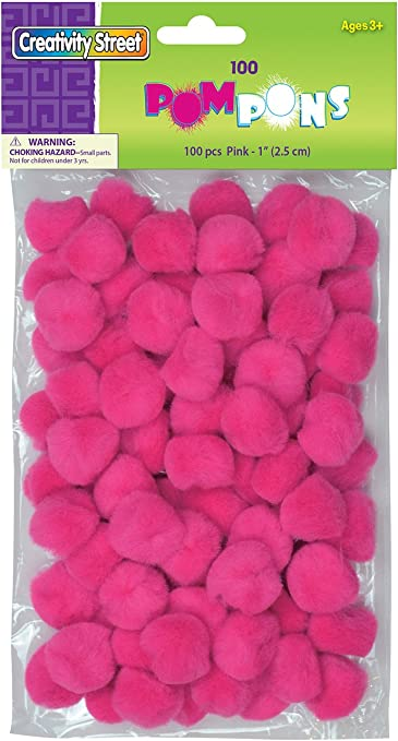 """50 White 35mm or 1.5/"""" Craft Pom PomsFluffy Acrylic Pompoms"""