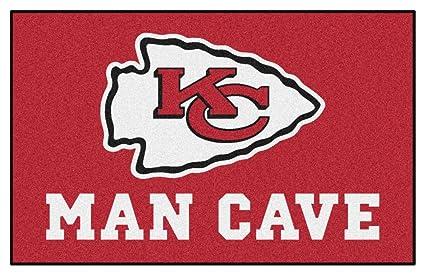 kansas city chiefs man cave ultimat 5 x 8 ft decor area rug