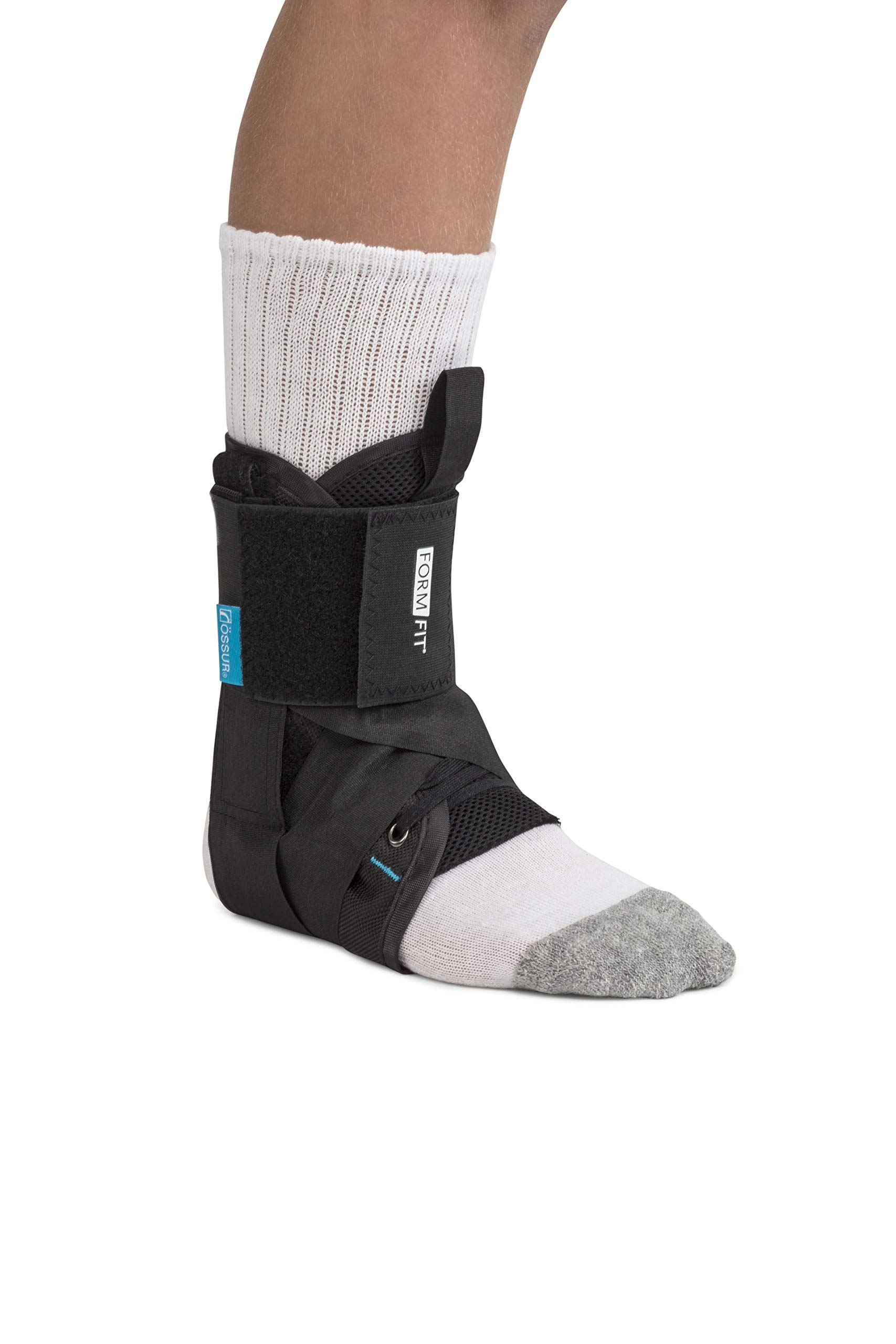 Ossur Formfit Ankle with Speedlace - Medical Grade Ankle Stability and Protection, Single Pull Closure Mechanism and Removable Semi-Rigid Stays (Medium) by Ossur