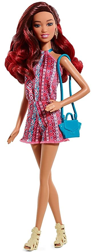 8de5dd5c8 Amazon.com: Barbie Fashionistas Doll - Tribal Print Romper: Toys & Games