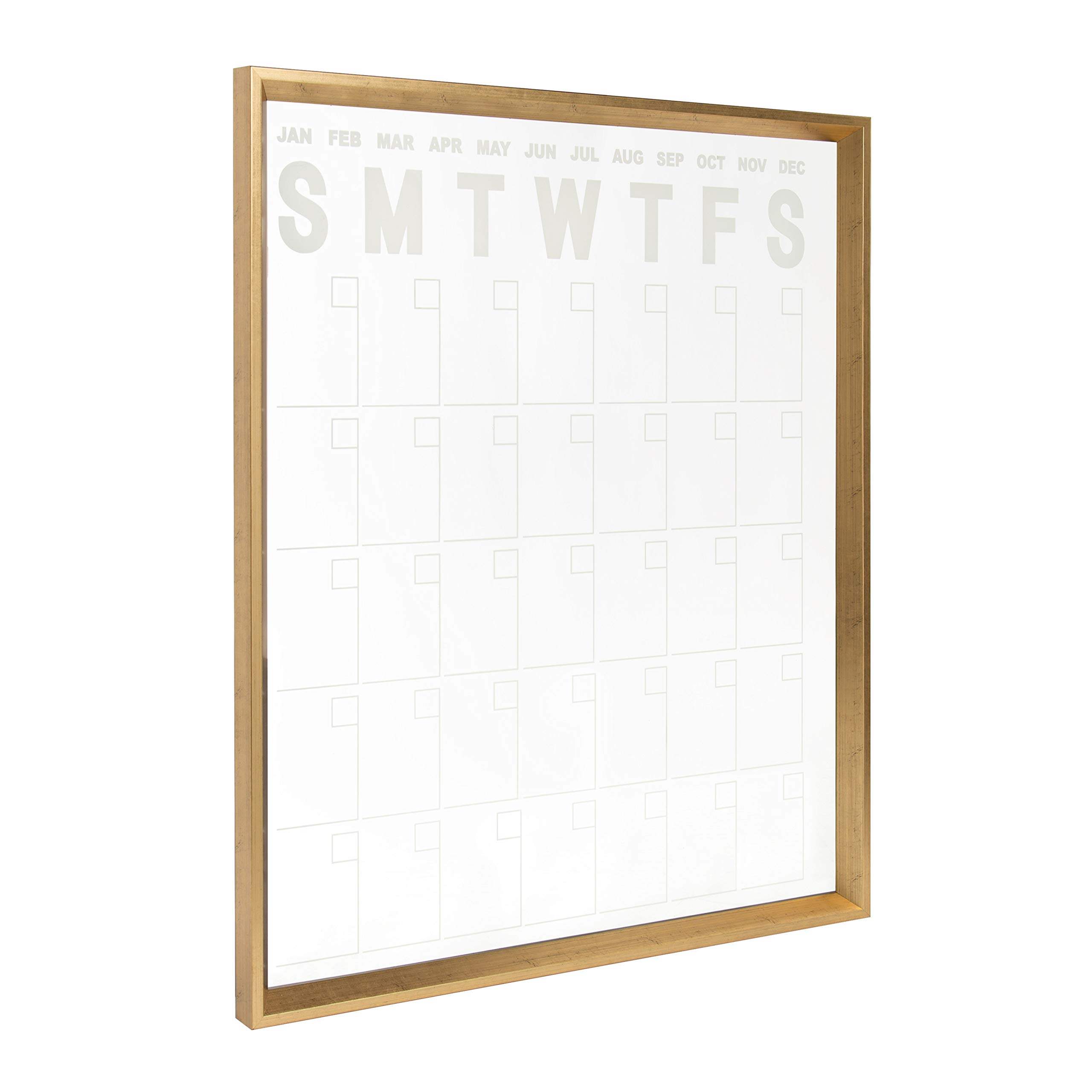 Kate and Laurel Calter Erasable Acrylic Monthly Wall Calendar, 25.5x31.5, Gold by Kate and Laurel