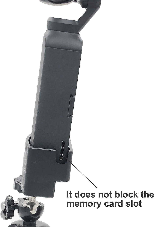 Flycoo 1//4Schraube Loch Halterung Stativ f/ür DJI OSMO Pocket Kamera Mount Adapter Zubeh/ör 1//4 Zoll Stativ