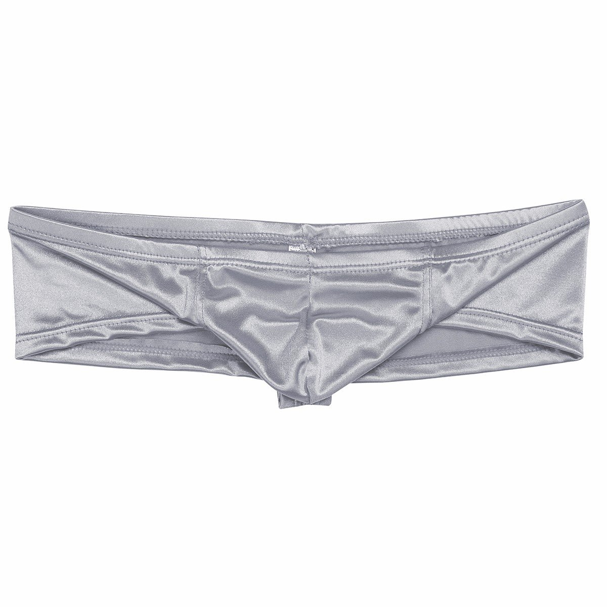 ba2cd6aa2f1a iEFiEL Mens Shiny Cap Cover Bulge Pouch Low Rise Mini Bikini Briefs  Lingerie Underwear Silver L < G-Strings & Thongs < Clothing, Shoes &  Jewelry - tibs