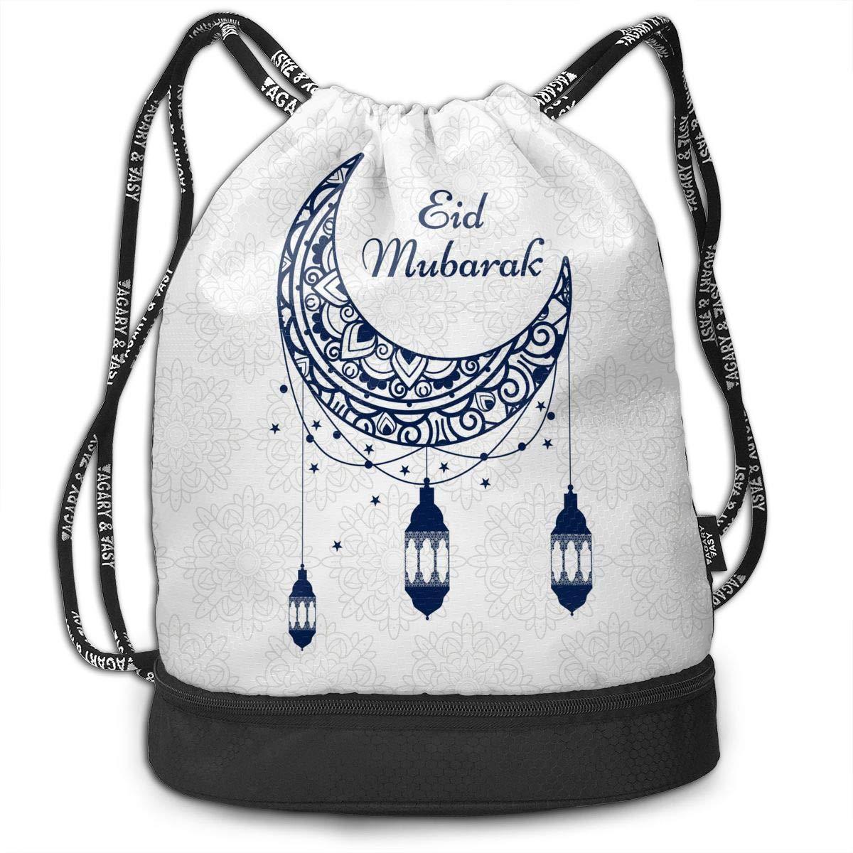 HUOPR5Q Colorful Galaxy Space Moon Star Drawstring Backpack Sport Gym Sack Shoulder Bulk Bag Dance Bag for School Travel