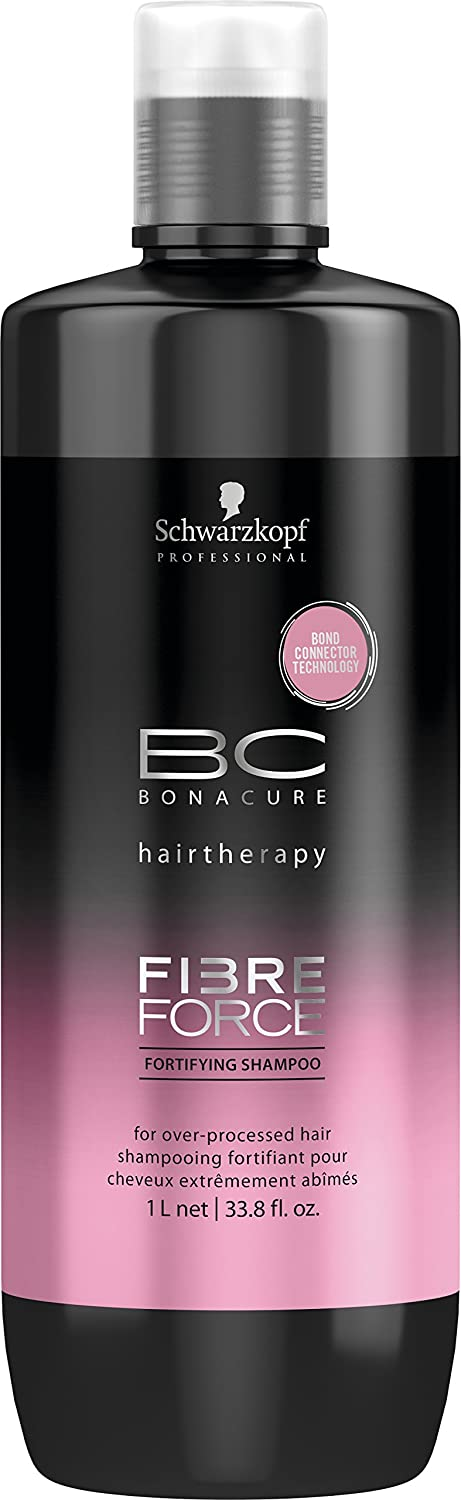 Schwarzkopf Bonacure hairtherapy fibre force fortifying shampoo, 1er Pack, (1x 1 L) Schwarzkopf Professional 2176411