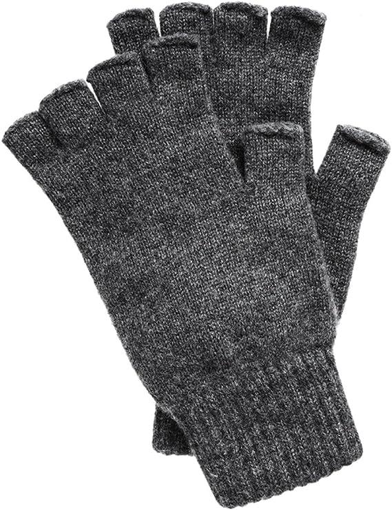 Mens Black Fingerless Gloves Einheitsgröße