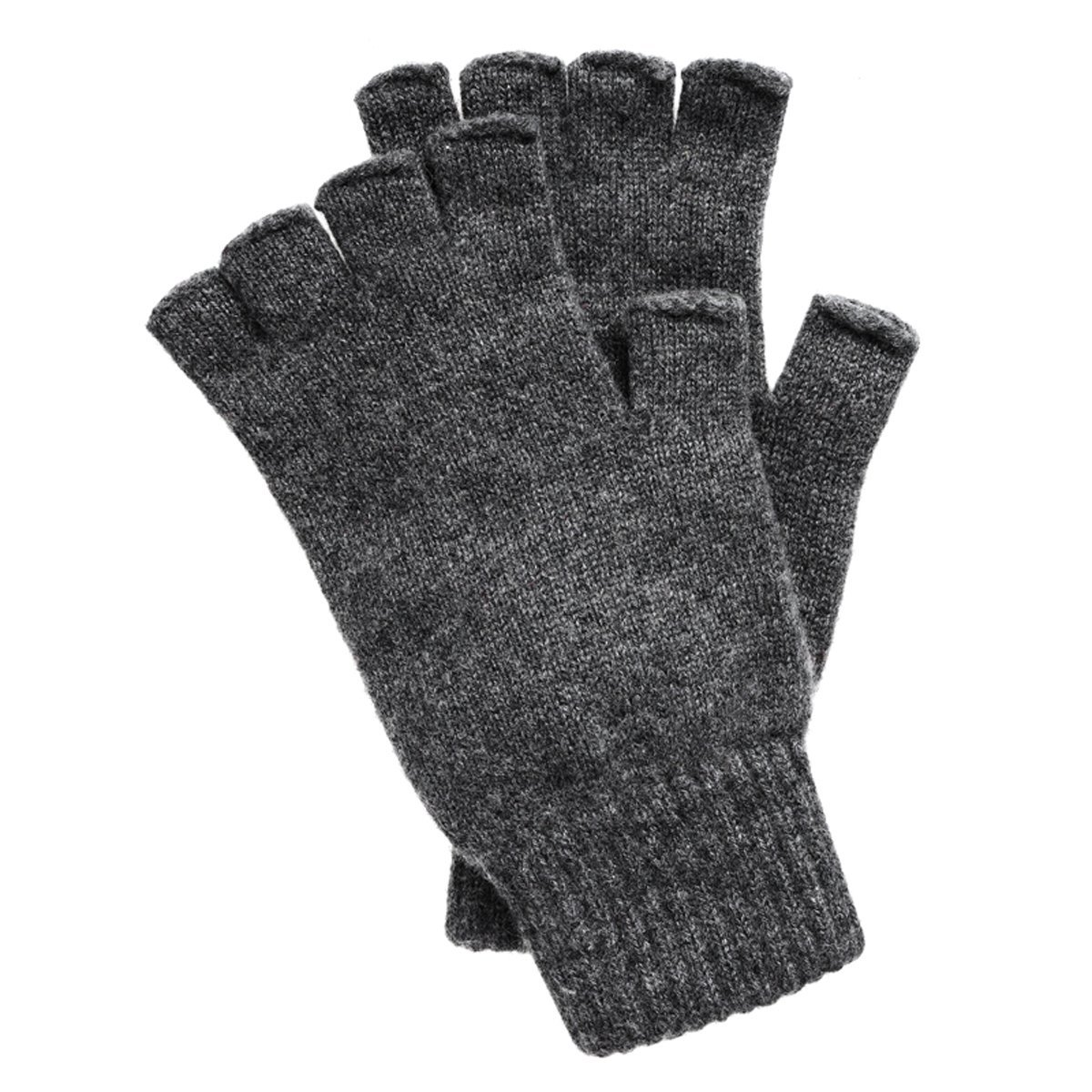b161f0f0e21e1 Men's Fingerless Cashmere Gloves made in Scotland (Black) at Amazon Men's  Clothing store: Cold Weather Gloves