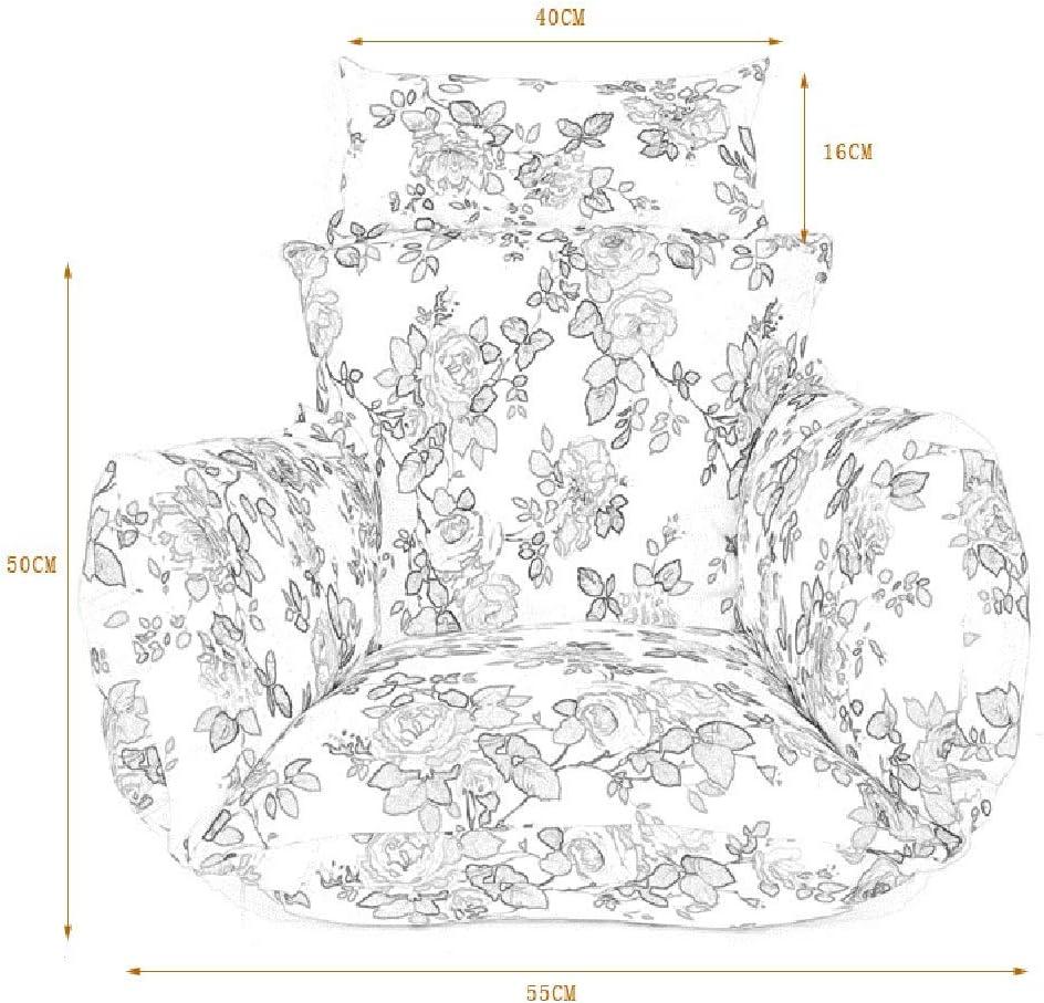 DULPLAY Appeso Amaca Cuscini per Sedie Cestino Sede della Sedia Uovo Poltrona di Vimini Cuscino della Sedia Coperta Cuscino per Sedili Divano-a 55x55cm 22x22inch