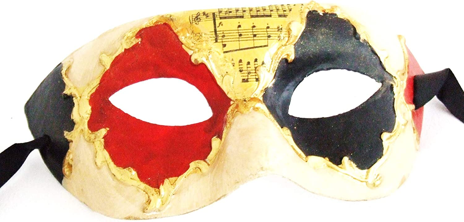 Red Mens Music Masquerade Mardi Gras Mask New Years Eve Party