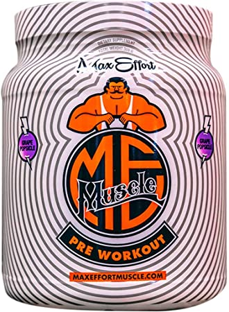 Max Effort Muscle, Pre Workout, Clinically Tested Ingredients, Formulated with Carnosyn and Creapure (30 Servings, Grape Popsicle)