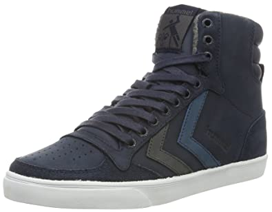 Unisex Adults Slimmer Stadil Duo Oiled High Hi-Top Sneakers Hummel W3wgao