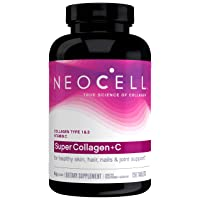 NeoCell Super Collagen with Vitamin C, 250 Collagen Pills, #1 Collagen Tablet Brand...
