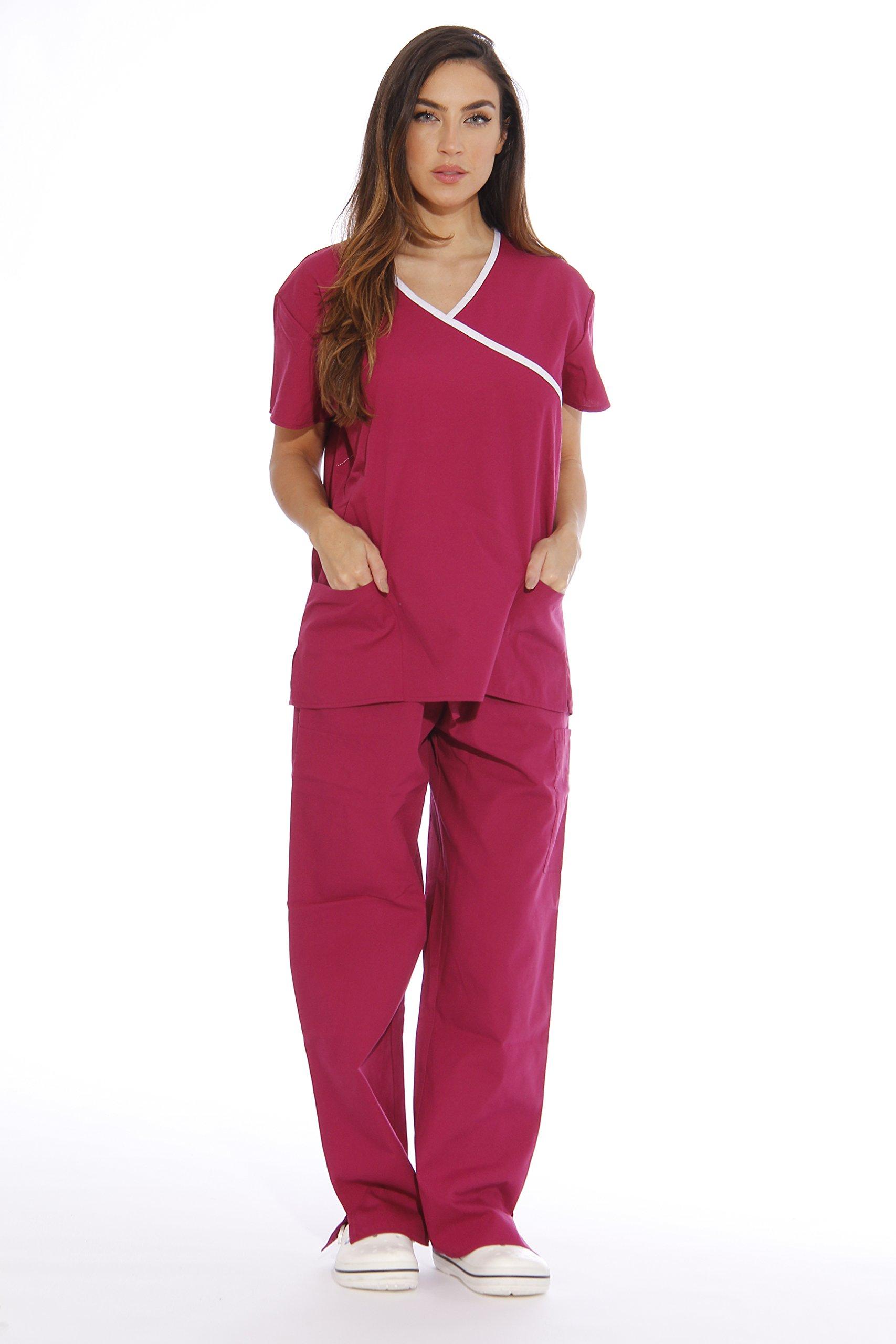Just Love Women's Scrub Sets Medical Scrubs (Mock Wrap) 11151W-2X