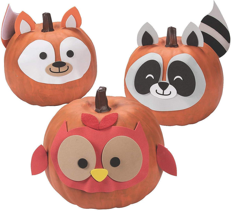 Woodland Animal Pumpkin Decorating Craft Kit -6 - Crafts for Kids and Fun Home Activities