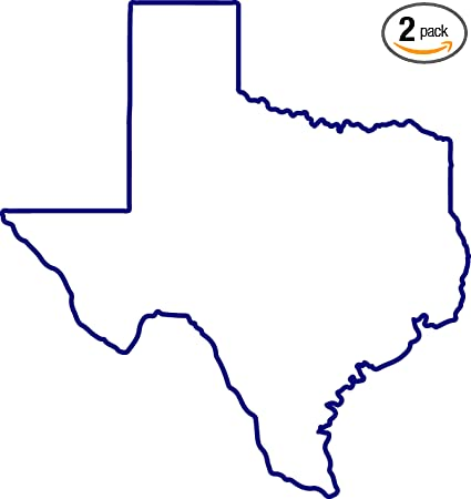Texas Map Outline Amazon.com: Texas Map Outline (Navy Blue) (Set of 2) Premium