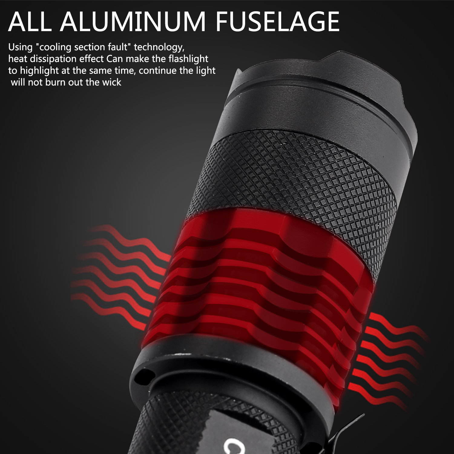 GSPON LED Flashlight,Outlite High Power 3 Mode Tactical Flashlight Handheld Waterproof Flashlight for Outdoor by GSPON (Image #5)