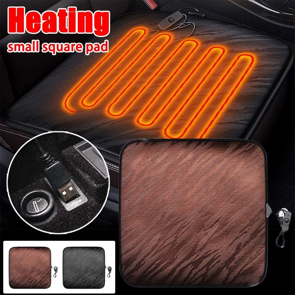 HOTEU Car Heated Seat Cushion USB Chair Warmer 12V Heated Seat Cover Nonslip Heated Warm Chair Pad for Auto Supplies Home Office