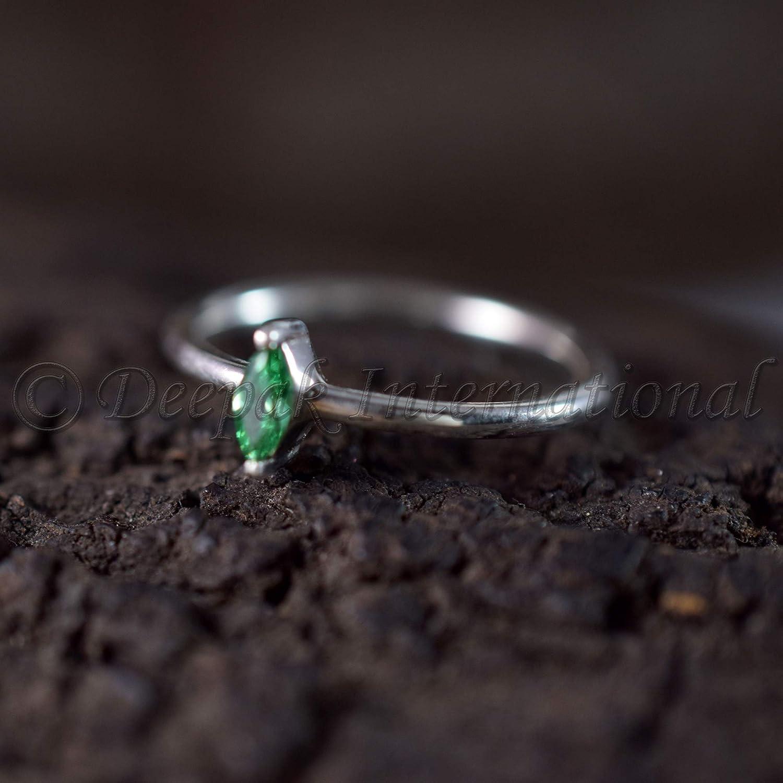 Genuine Polki /& Pave Diamond Jewelry Fine Ring 925 silver Natural Emerald Gemstone 925 sterling Silver Handmade Victorian Ring
