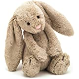 Jellycat Bashful Beige Bunny Stuffed Animal, Medium, 12 inches