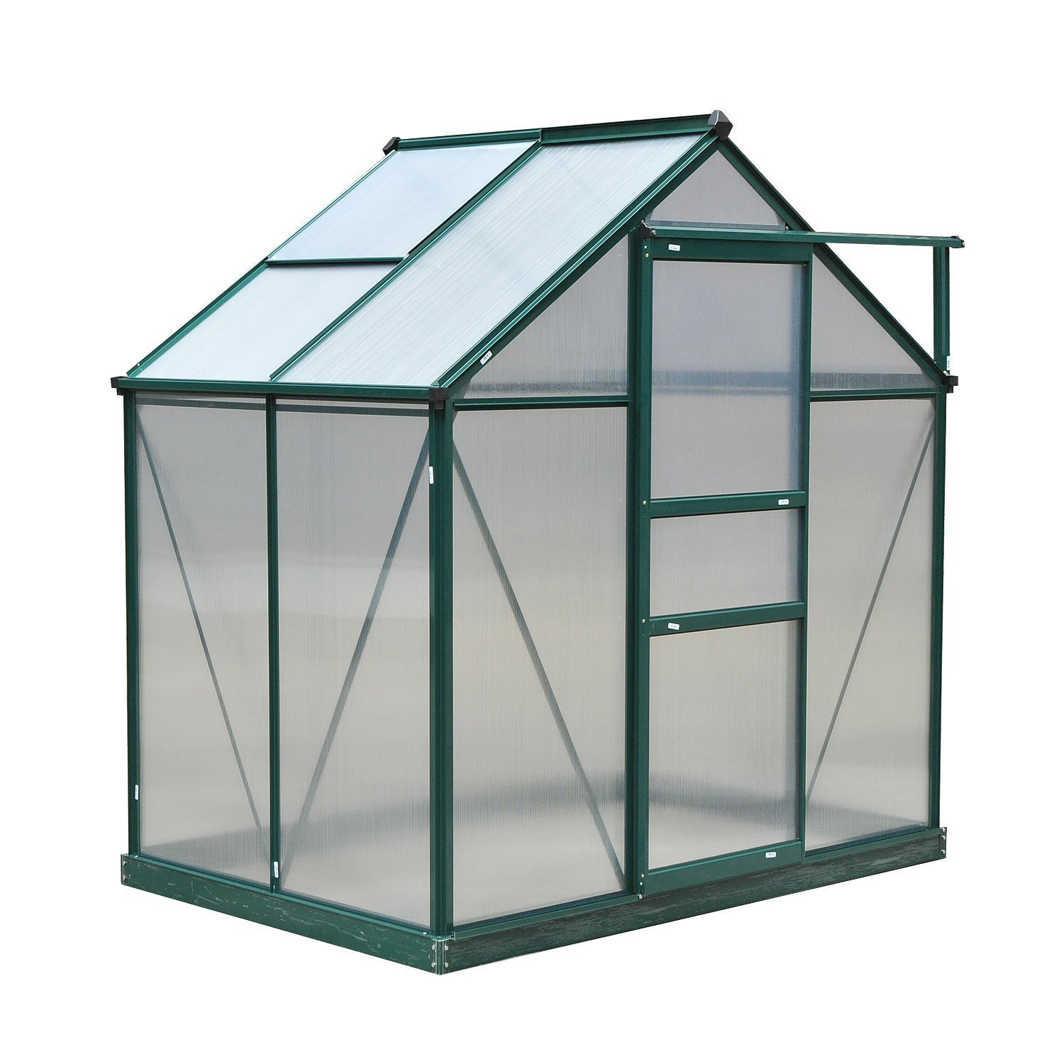 Outsunny 6'L x 4'W x 7'H Polycarbonate Walk-In Garden Greenhouse by Outsunny