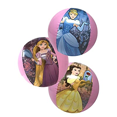 "3 Packs Girls Disney Princesses Inflatable Beach Ball 13.5"": Toys & Games"