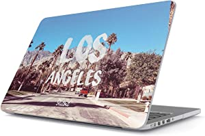 Glitbit Hard Case Cover Compatible with MacBook Air 13 inch Case Release 2018-2019 Model: A1932 / A2179 with Retina Display and Touch ID Los Angeles LA California Good Vibes USA America Mountains