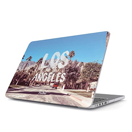 Glitbit Funda para MacBook Pro 15 Pulgadas de 2016-2018, Modelo: A1707 con Touch Bar Los Angeles LA California Sunny Cali Palm Trees USA America ...