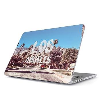 Glitbit Funda para MacBook Pro 15 Pulgadas de 2016-2018, Modelo: A1707 con Touch Bar Los Angeles LA California Sunny Cali Palm Trees USA America ...