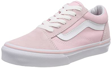 07799cabeb Vans Kids K Old Skool V Suede Canvas Chalk Pink White Size 1
