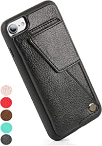 ZVEdeng iPhone 7 Wallet Case, iPhone SE2 Wallet Case, iPhone 8 Wallet Case with Credit Card Holder Slot Leather Wallet Phone Case Protective Cover Magnetic Flip Case for iPhone SE2/8/7, 4.7INCH-Black