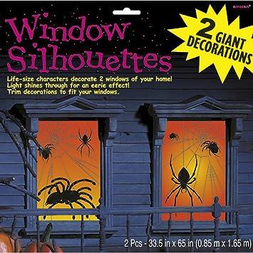 Spinnen Fensterbilder 85 X 165 Cm 2 Tlg Halloween Fensterdeko