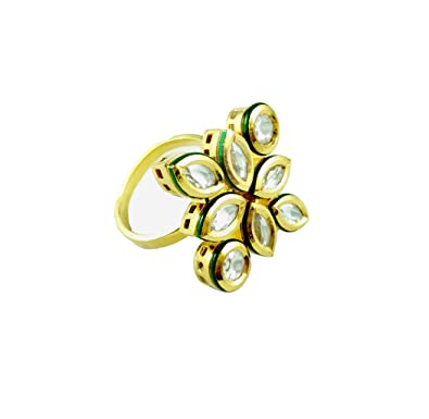 f53e904a5d728 Jia Lifestyle - Kundans Ring for Girls Ring for Women Adjustable Finger  Ring Designer Collections | Fashion Jewellery for Ladies for Aniversary  Birthday ...