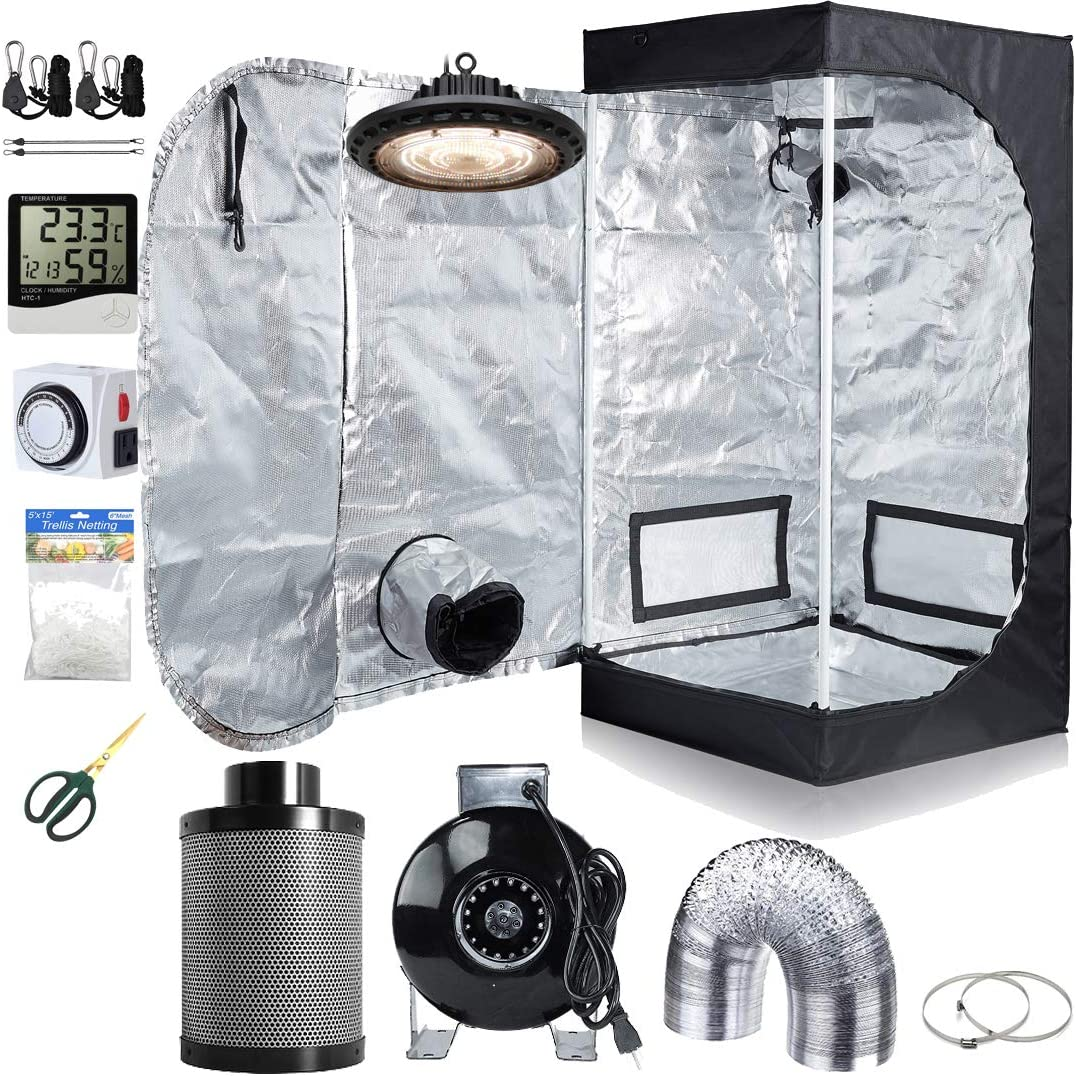 Hydro Plus LED Light Grow Tent Complete Kit