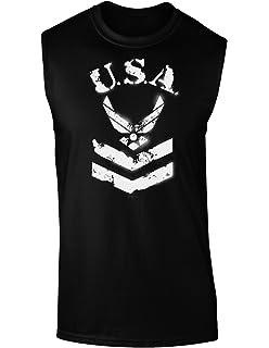 USA Military Air Force Stencil Logo Loose Tank Top
