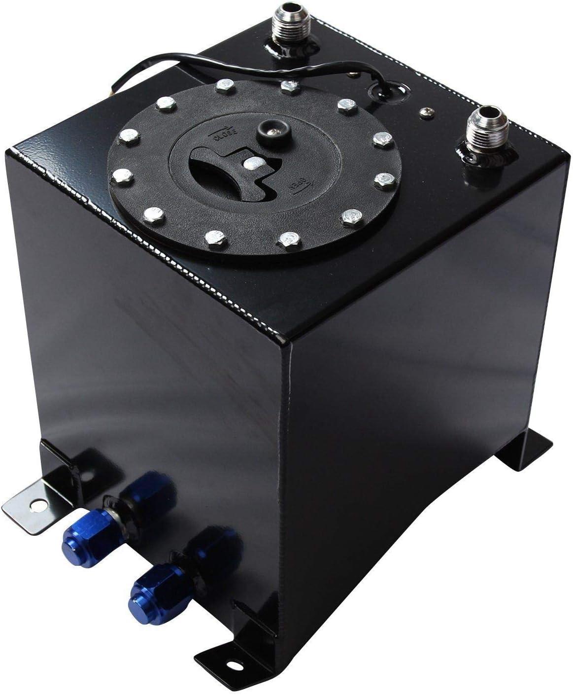 2.5 Gallon 9.5L Fuel Cell Gas Tank Aluminum Polished Race Street Drift Strip Fuel Cell Tank Sliver