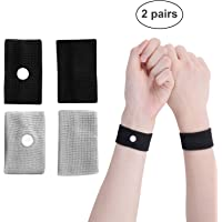 2 Pairs Motion Sickness Relief Wristbands Travel Acupressure Wristbands Nausea Relief Band for Morning Sickness Sea Travel Car Sickness