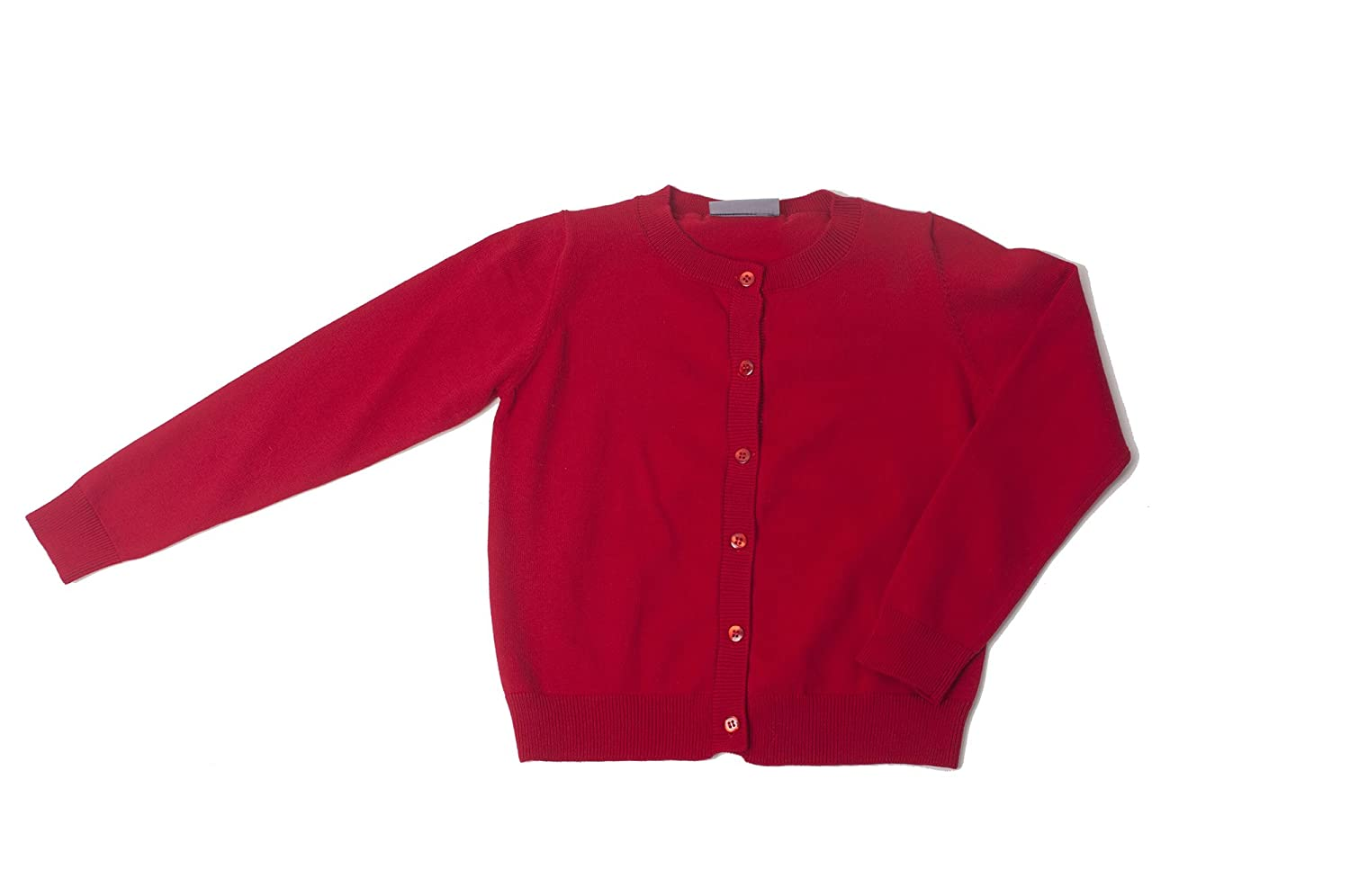 Khanomak Kids Girl Crew Neck Cardigan Sweater (Sizes 3T- 14 Yrs) Kh006