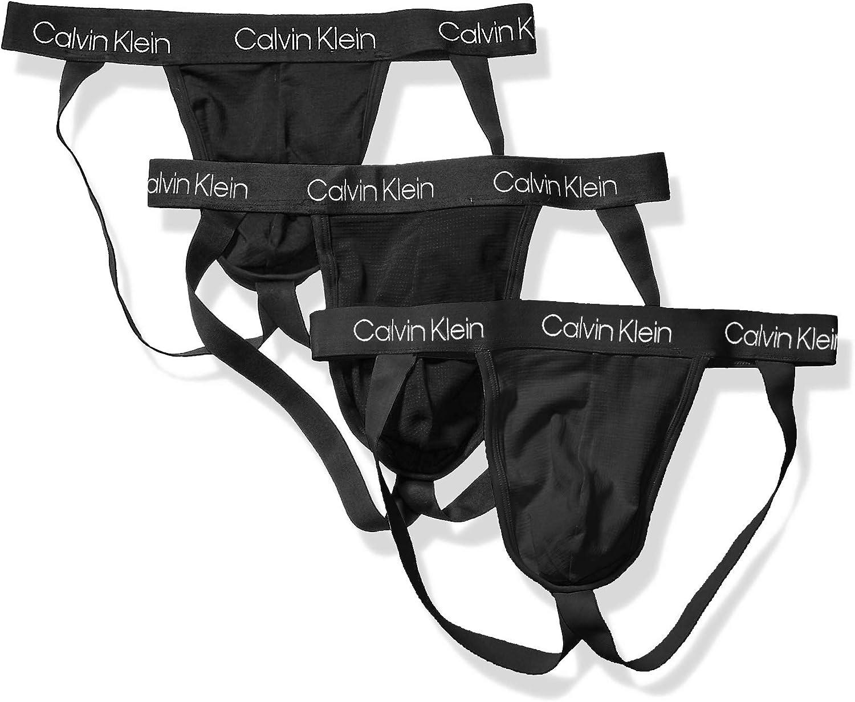 Calvin Klein Men's Underwear Breathable Cotton Mesh Jock Straps 3 Pack
